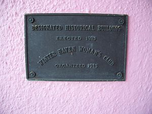 Woman's Club of Winter Haven - Image: Winter Haven Womans Club plaque 01