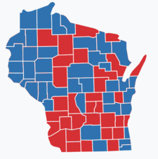 Wisconsin gubernatorial election, 1982 County Results.png