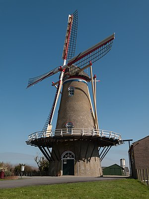 Wissenkerke - Image: Wissenkerke, korenmolen de Onderneming RM39098 foto 3 2014 03 16 13.21