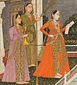 Women detail, Fayzullah - A blindfolded suitor is brought before a princess - 2013.343.a - Cleveland Museum of Art (cropped).jpg