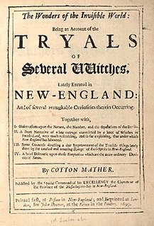 <i>Wonders of the Invisible World</i> book published by Cotton Mather in 1693