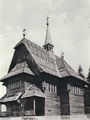 Wooden church in Skhidnytsia (1901).png