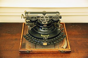 Management of dyslexia - Woodrow Wilson was an early adopter of the typewriter. It is believed to have helped him overcome dyslexia to write correspondence. Shown is Wilson's typewriter, at Woodrow Wilson House Museum.