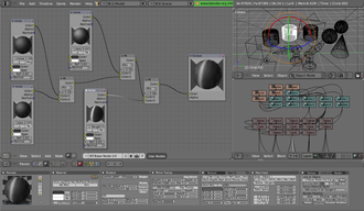 Blender Game Engine - Image: Working with Nodes Blender