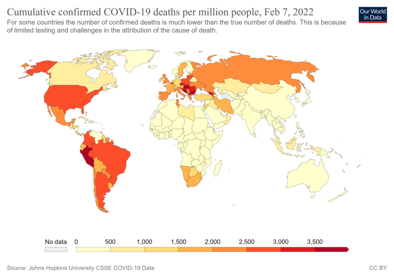 Covid 19 Pandemic Death Rates By Country Wikipedia