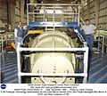 X-38 Prototype Technology Demonstrator for the Crew Return Vehicle (CRV) and Project Managers Bob Ba DVIDS718666.jpg