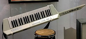 Keytar - Herbie Hancock's Yamaha KX1 MIDI controller on display at the Smithsonian National Museum of American History.