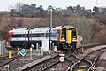 Yeovil Junction - SWR 159004 (Stagecoach livery) arriving from Pen Mill.JPG