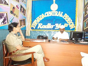 Yerwada Central Jail - Staff at the prison's radio station