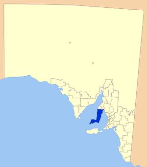 Yorke Peninsula Council - Location of the Yorke Peninsula Council