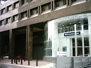 Yorkshire Bank - The Yorkshire Bank Headquarters in Leeds in 2008