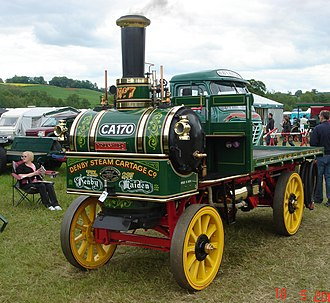 Transverse boiler - 1905 Yorkshire Patent Steam Wagon, originally from the Tom Varley collection