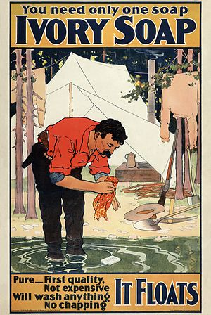 Ivory (soap) - 1898 advertising poster