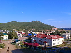 Zakamensk town center