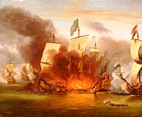 The Burning of the Royal James at the Battle of Solebay, 7 June 1672