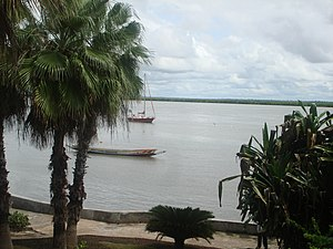 Casamance River - the Casamance River at Ziguinchor.