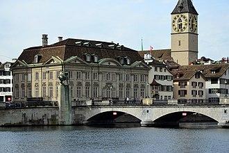 Zunfthaus zur Meisen - Zunfthaus zur Meisen and Münsterbrücke