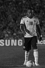 Zúñiga con la maglia della Nazionale colombiana.
