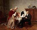 """The physician's verdict"". Oil painting by Emile Carolus Lec Wellcome L0028694.jpg"