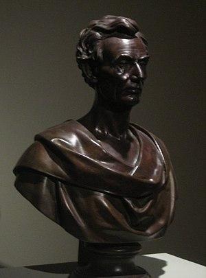 Leonard Volk - Bronze bust of Abraham Lincoln by Leonard Volk, 1860, El Paso Museum of Art