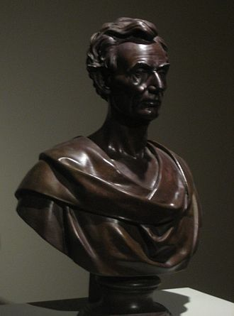 Leonard Volk - Bronze bust of Abraham Lincoln by Leonard Volk, 1860, El Paso Museum of Art