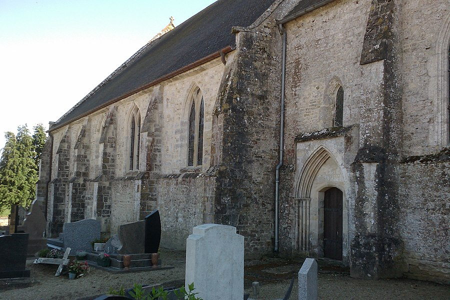Fr:Église Saint-Étienne d'Auvers , extérieur gauche de la nef