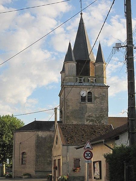 Church Saints Peter and Paul of Sermoyer (Ain, France).