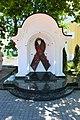 Київ, Пам'ятний знак «Символ солідарності з хворими на СНІД», Мазепи Івана вул. 11.jpg