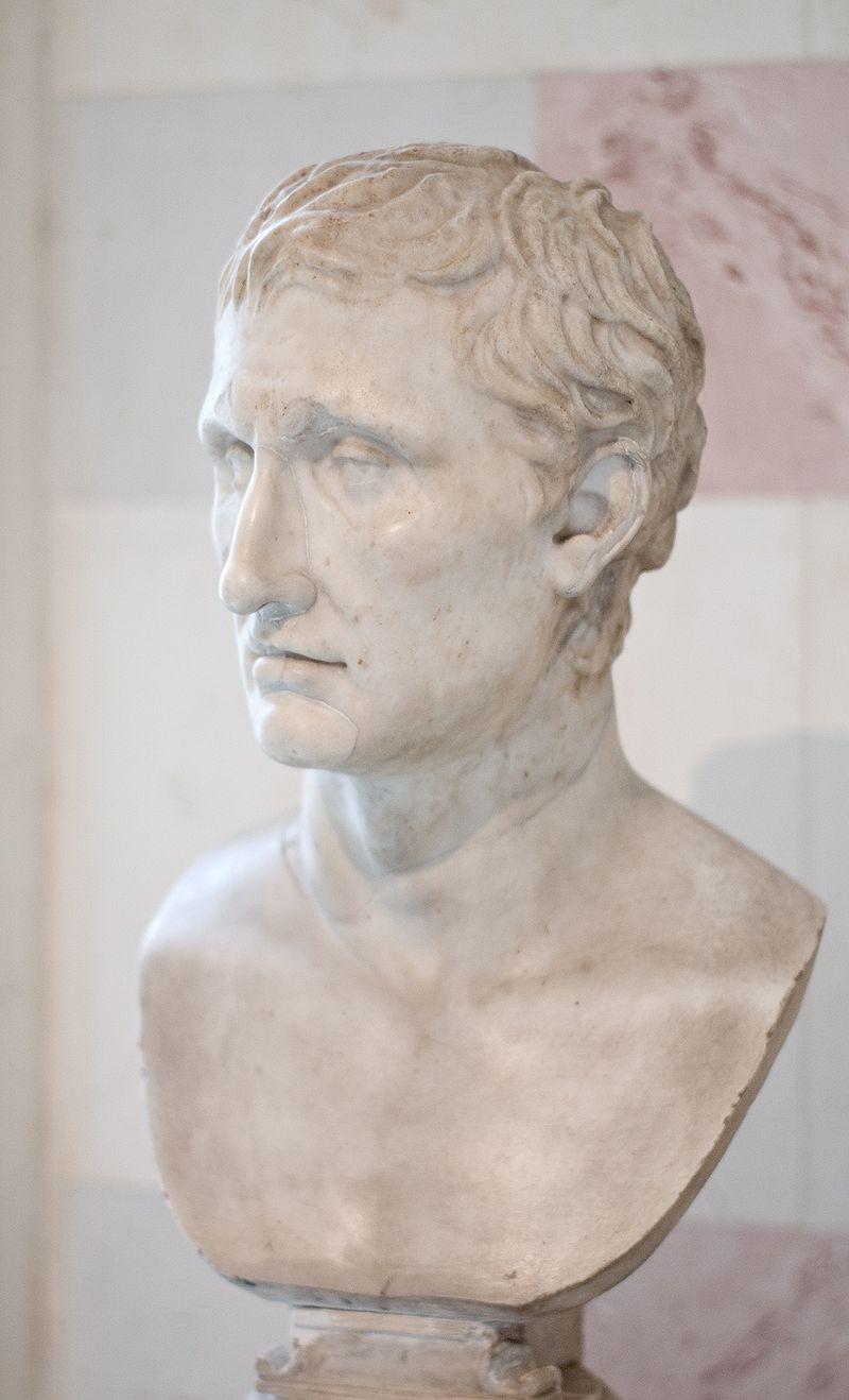 別のメナンドロス像。エルミタージュ美術館蔵。Wikipediaより