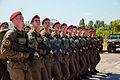 Тренування Нацгвадійців до параду військ з нагоди 25-ї річниці незалежності України IMG 6209 (28754442460).jpg