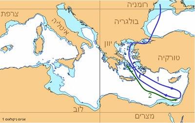 אגיאוס ניקולאוס 1 - מסלול