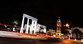 כיכר השעון ביפו בלילה.jpg