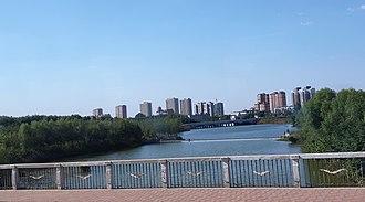 Pingyin County - Image: 平阴县城的一条河流