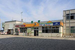 Mori Station (Hokkaido) - Mori Station in August 2010