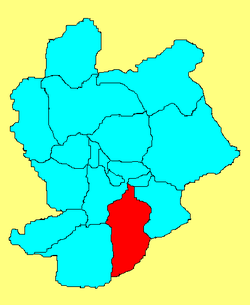 Location in Zhangjiakou