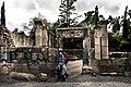0066שער הכניסה לבית הכנסת בכפר המשוחזר במתחם הכפר התלמודי שבעיר קצרין אשר ברמת הגולן..jpg