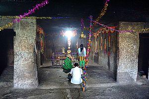 Ghorawadi Caves - Vihara in Ghoravadi, converted into a Hindu temple.