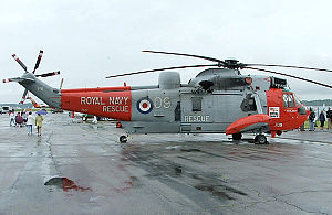 Death of Charlotte Shaw - A Royal Navy search and rescue Sea King, similar to the one used in the rescue operation