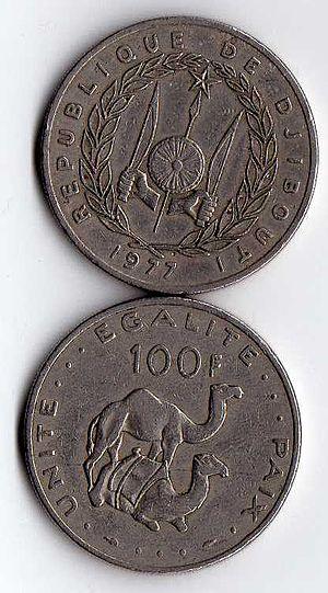 Djiboutian franc - 100 Djiboutian francs (1977).