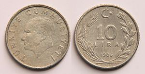 Lira - Image: 10 Lira (Turkey)