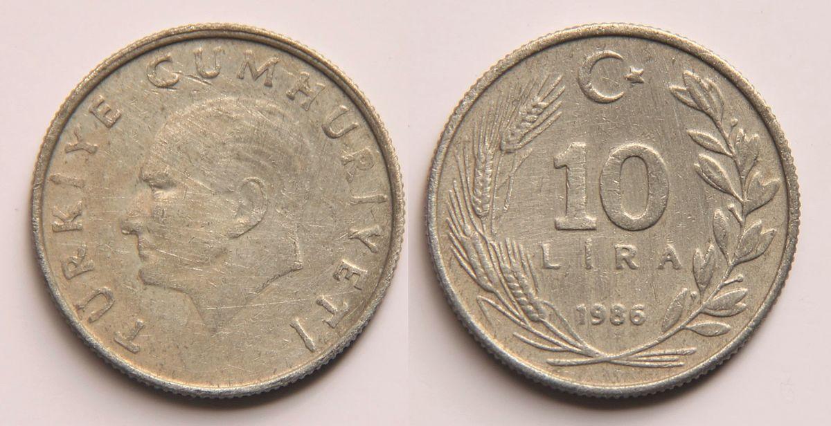 10 lira coin