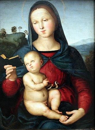 Solly Madonna - Image: 1502 Raffael Madonna Solly anagoria