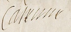 1562 signature of Catherine de' Medici, Queen of France.jpg