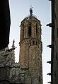 160 Catedral de Barcelona, campanar, i gàrgoles del palau del Lloctinent.jpg