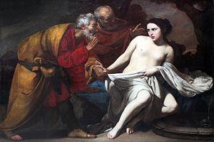 Susanna (Book of Daniel) - Image: 1643 Stanzione Susanna und die beiden Alten anagoria