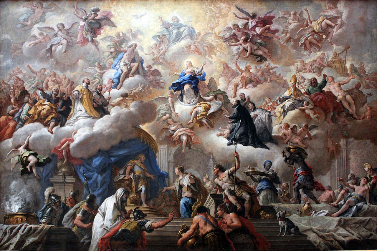 The Triumph of the Immaculate by By Paolo de Matteis - Own work, anagoria, Public Domain