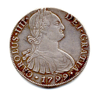 Spanish real - Image: 1799 Carlos III Real Obverse