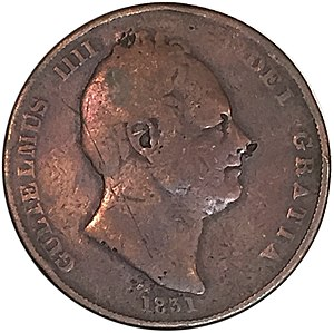 History of the British penny (1714–1901) - 1831 William IV penny