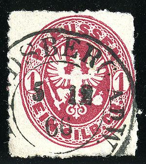 Gorzów Wielkopolski - Stamp of Prussia, 1SGr, cancelled at LANDSBERG an der Warthe (Brandenburg) in 1866
