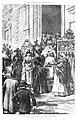 1887-04-22, La Ilustración Española y Americana, La salida de misa, en Calatravas, Manuel Domínguez, Rico.jpg